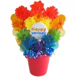 Rainbow Birthday Lollipop Bouquet